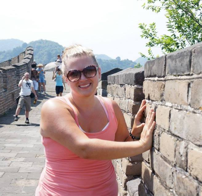 Hands on the Great Wall of China