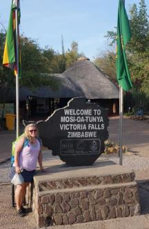 Zim side of Victoria Falls