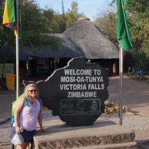 Zim side of Victoria Falls
