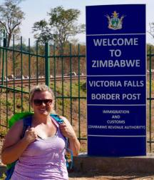 Zim side of the Falls, Victoria Falls, Africa